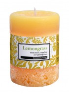 Rosemoore Yellow Lemongrass Scented Pillar Candle