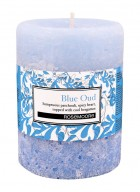 Rosemoore Blue Oud Scented Pillar Candle