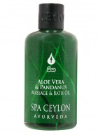 Spa Ceylon Aloe Vera and Pandanus Massage and Bath Oil