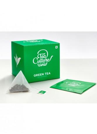 Tea Culture of the World Green Tea 20 Tea Bags (Pack of 2)