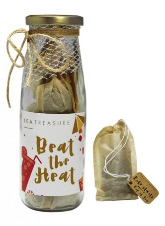 Tea Treasure Tropical Hibiscus Green Tea Handcrafted Tea Bags (Pack of 2)