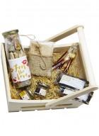 Tea Treasure Gourmet Tea Basket- Sweet Dreams & Slimming Tea Bag Bottle