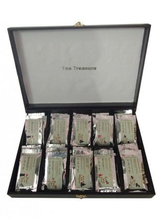Tea Treasure Teak Wood Tea Chest