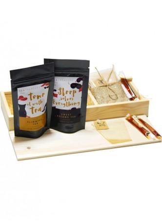 Tea Treaure Tea For Two - Wood Box - 1