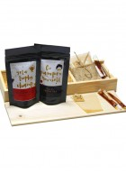 Tea Treasure Combo (Silver Needle White Tea & Tulsi Green Tea) - Wood Box