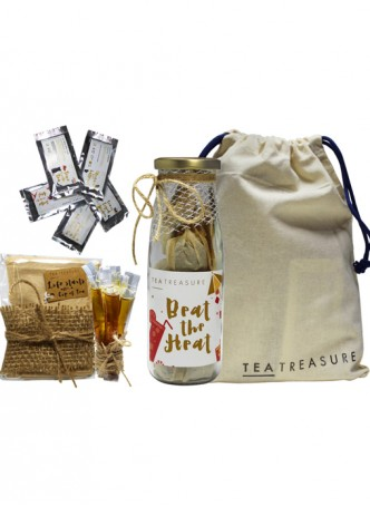 Tea Treasure Tropical Hibiscus Green Tea Travel Kit