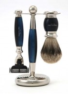 Truefitt And Hill Edwardian Set Blue - Brush - Machiii Razor - Stand