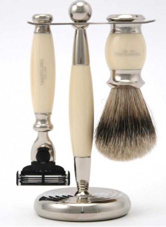 Truefitt And Hill Edwardian Set Cream - Brush - Machiii Razor - Stand
