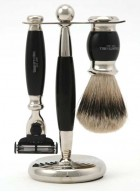 Truefitt And Hill Edwardian Set Black - Brush - Machiii Razor - Stand