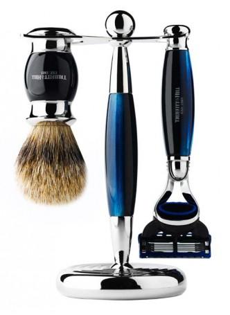 Truefitt And Hill Edwardian Set Blue - Brush - Fusion - Razor - Stand