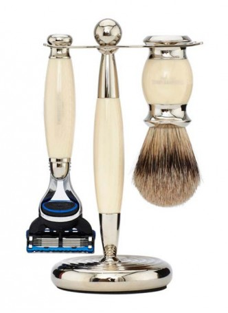 Truefitt And Hill Edwardian Set Cream - Brush - Fusion - Razor - Stand