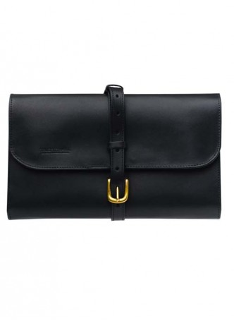 Truefitt And Hill Leather Travel Roll-Up - Black Wet Pack