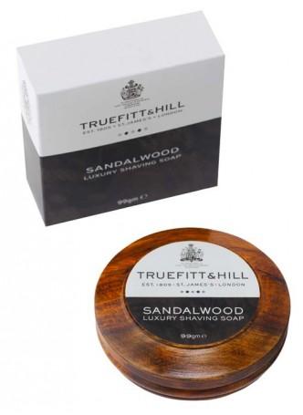 Truefitt And Hill Sandalwood Luxury Shaving Soap In Wooden Bowl