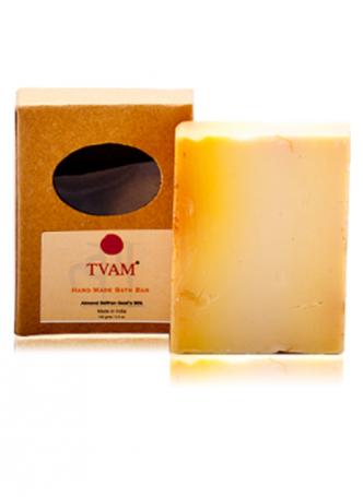 Tvam Handmade Soap - Almond, Saffron and Goats Milk