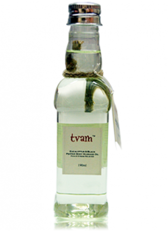 Tvam Body Massage Oil- Eucalyptus and Black Pepper