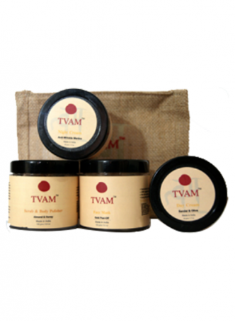 Tvam Gift Pack - Face Care (Scrub/Body Polisher, Face Mask, Day Cream and Night Cream)