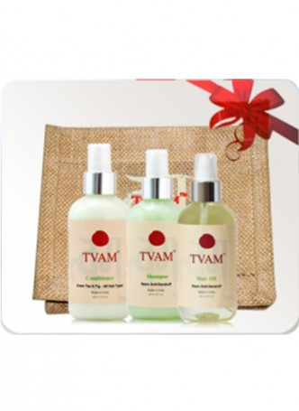 Tvam Gift Pack - Hair Care (Shampoo, Hair Oil and Conditioner)