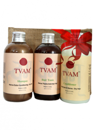 Tvam Gift Pack - Hair Care (Conditioner, Anti Hair Fall Tonic and Shampoo)