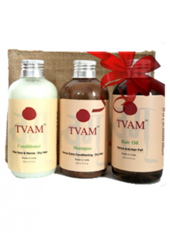 Tvam Gift Pack - Hair Care (Conditioner, Anti Hair Fall Oil and Shampoo)