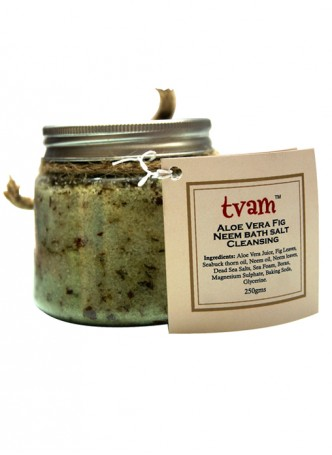 Tvam Bath Salt - Aloe Vera Fig and Neem