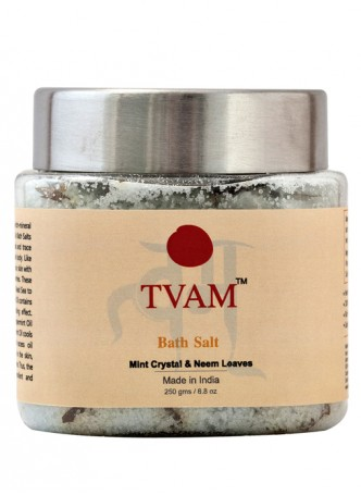 Tvam Bath Salt - Mint Crystals and Neem