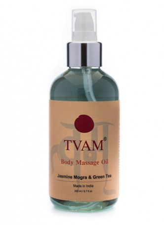 Tvam Body Massage Oil - Jasmine Mogra Green Tea