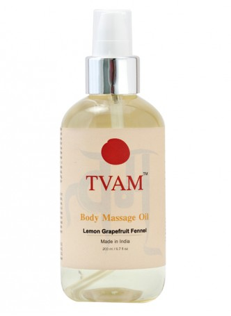 Tvam Body Massage Oil- Lemon Grapefruit and Fennel
