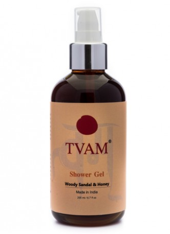 Tvam Shower Gel - Woody Sandalwood and Honey