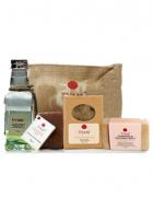 Tvam Gift Pack Body Care (2 Handmade Soaps, foot massage cream and Body Massage Oil)