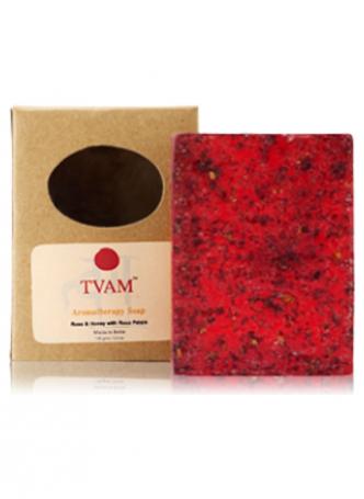 Tvam Handmade Soap - Rose Petals and Honey Aromatherapy