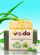 Veda Essence Moisturizing Aloe Vera Jasmine Natural Handmade Soap (pack of 2)