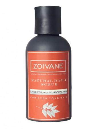 Zoivane Men Natural Daily Scrub for Oily to Normal Skin
