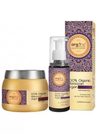 Arganic Moroccan Argan Hair Shampoo and Hair Mask Combo Pack