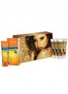 Aryanveda Gold Radiance 3X Home Spa Kit with SPF-50 combo pack