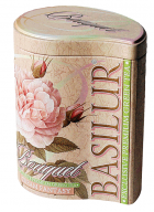 Basilur Bouquet - Cream Fantasy Loose Leaf Flavored Green Tea in Tin Caddy