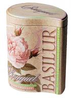 Basilur Bouquet - Cream Fantasy Loose Leaf Flavored Green Tea in Tin Caddy