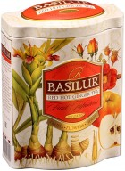 Basilur Fruit Infusions Red Hot Ginger Herbal Tea in Tin Caddy