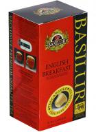 Basilur Tea Capsules Box Board English Breakfast-10 Capsules
