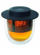 Finum Hot Glass System-Doublewall Tea Glass With Permanent Filter And Hat-200 ml