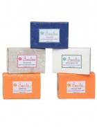 Fuschia Set of 5 Natural Herbal Handmade Herbal Soaps