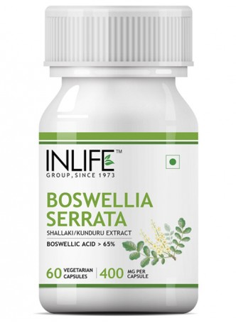 INLIFE Boswellia Serrata Extract Joint Supplement - 60 Vegetarian Capsules