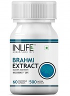 INLIFE Brahmi - Bacopa Monnieri Extract Supplement - 60 Vegetarian Capsules