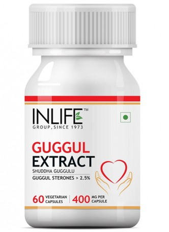INLIFE Guggul Extract Sterones Supplement - 60 Vegetarian Capsules