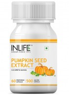 INLIFE Pumpkin Seed Extract Supplement - 60 Vegetarian Capsules