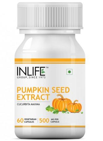 INLIFE Pumpkin Seed Extract Supplement - 60 Vegetarian Capsules