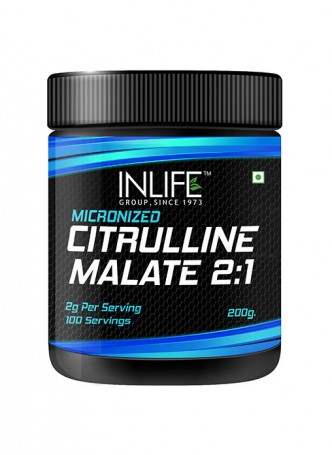 INLIFE Micronized Citrulline Malate Powder 2:1 Supplement - 200 grams – Unflavoured