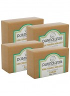 Purenaturals Hand Made Soap Neem with Turmeric and Leafs  - 125g (Set of 4)