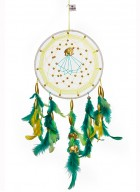 Dream Catcher by Rooh-Green and Yellow with Gold Elephants (Large)