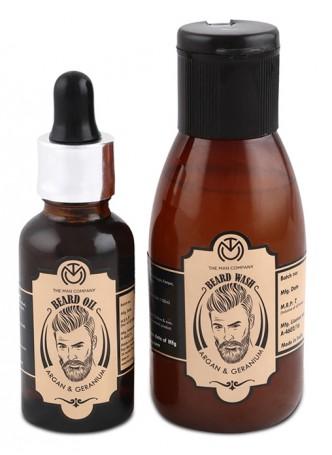 The Man Company Beard Combo - Argan and Geranium