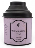 The Cha House Rose Flavoured Green Tea in Silken Pyramid Tea Bags - 20 Teabags